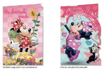 Immagine di Biglietto compleanno Minnie Disney assortito
