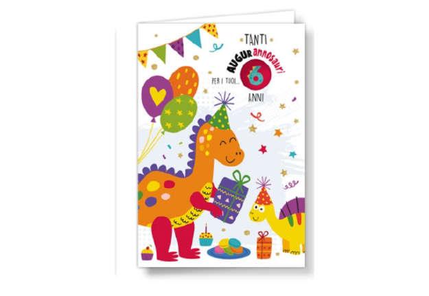 Immagine di Biglietto compleanno dinosauro