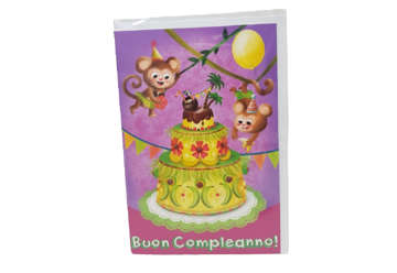 Immagine di Biglietto auguri compleanno scimmiette