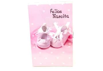 Immagine di Biglietto nascita bimba scarpette