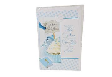 Immagine di Biglietto auguri Battesimo bimbo cupcake