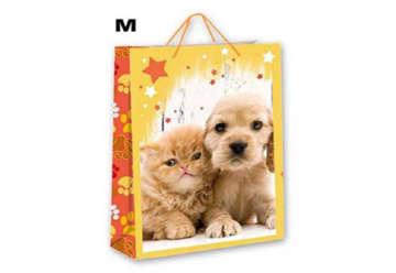 Immagine di Confezione 6 Shopper Cuccioli M 23x18cm