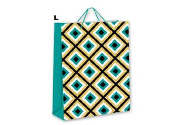 Immagine di Confezione 6 Shopper Texture glitter L 32x26cm