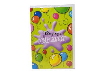 Immagine di Biglietto auguri compleanno palloncini
