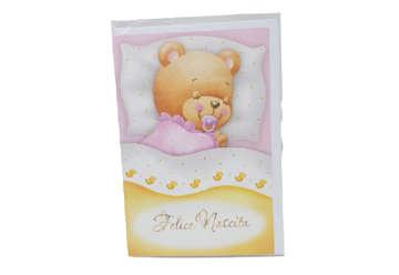 Immagine di Biglietto nascita bimba orsetto