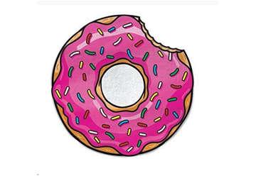Immagine di Telo mare circolare Donuts 150cm