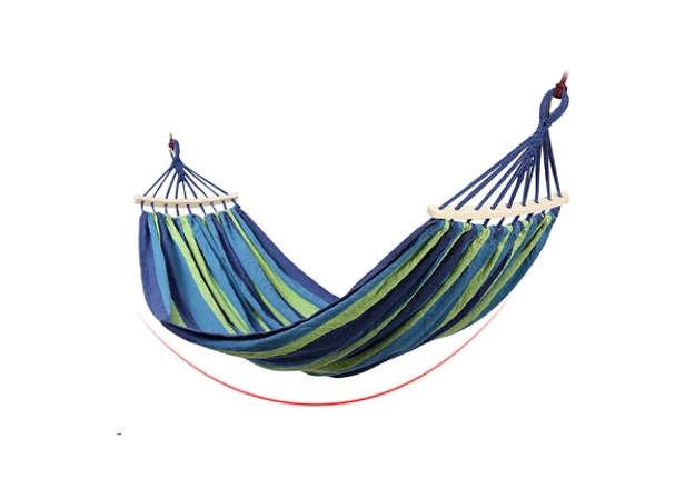 Immagine di Amaca verde/blu con supporto  200x100cm