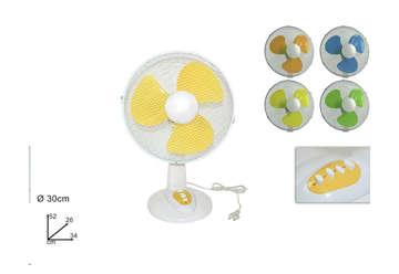 Immagine di Ventilatore da tavolo 35w 3 velocità colori assortiti