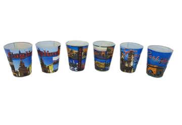 Immagine di Set 6 bicchierini in vetro 4Mori