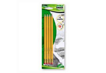 Immagine di Blister 4 matite HB con gomma