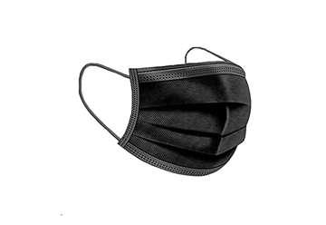 Immagine di Confezione 10pz mascherina chirurgica adulto nero