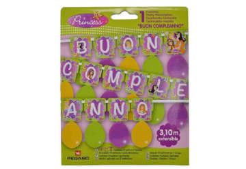 Immagine di Easy Kit festone Principesse Buon Compleanno