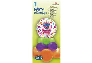 Immagine di Mini Kit palloncini con foil ' buon compleanno '