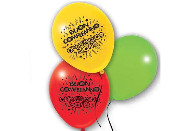 Immagine di Busta 10 palloncini Buon Compleanno