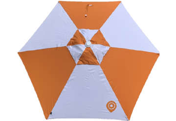 Immagine di Ombrellone Ilico Bianco-Arancio 210cm