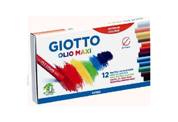 Immagine di Pastelli Giotto Olio Maxi 12Pz