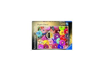 Immagine di Puzzle Ciambelle colorate 500Pz