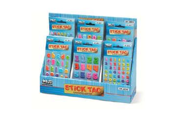 Immagine di Stickers adesivi assortiti lettere e numeri