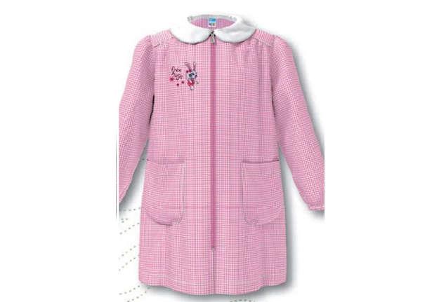 Immagine di Grembiule bambina quadretti bianco/rosa 3 anni