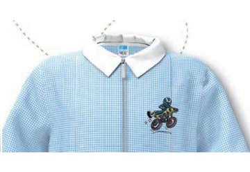 Immagine di Grembiule bambino quadretti bianco/azzurro 7 anni