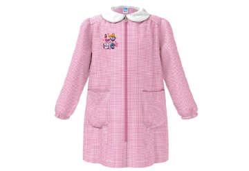 Immagine di Grembiule bambina quadretti bianco/rosa 6 anni