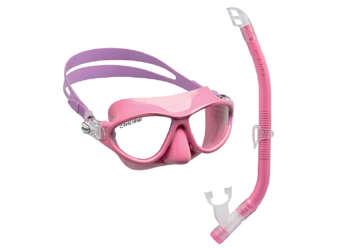Immagine di Maschera + boccaglio Moon kids rosa/lilla
