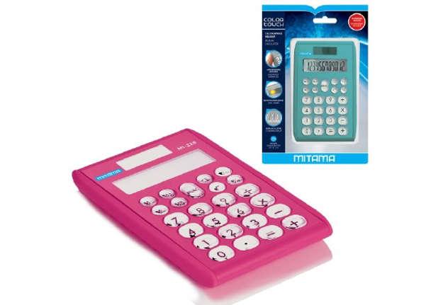 Immagine di Calcolatrice Pocket Mitama C.T.,12 Cifre,Dual Power, 7,5x12, Col.Ass. Bl. 1pz
