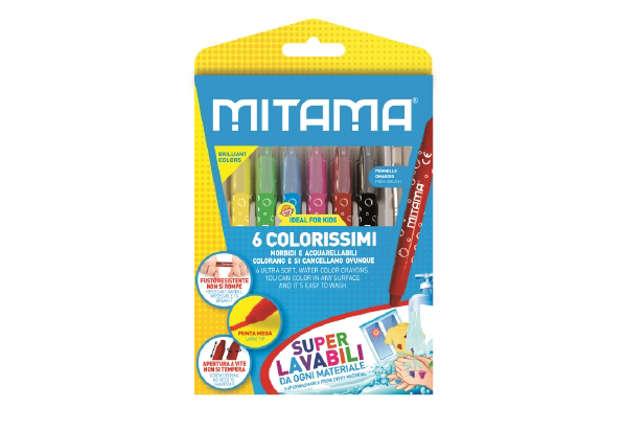 Immagine di Colorissimo Mitama, Mega colori morbidi, SuperLavabili + Pennello, Scat. 6 pz