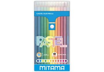 Immagine di Pastelli Mitama Laccato Tondo Pastel , mina 3.3, in Pet Box 12 pz.