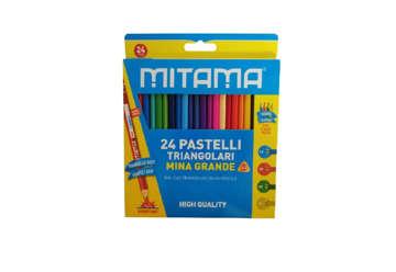 Immagine di Pastelli Mitama Triang. Laccato, mina 3.3, Scat.24 pz