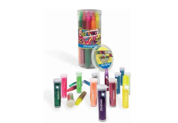 Immagine di Glitter Tube Mitama, 12 Colle Glitter+11 Polverine+2 Colle Liquide, in Tubo 25pz